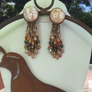 Jewelry - Beaded clip earrings